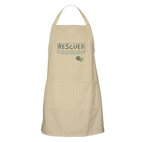 Rescued is my Favourite Breed BBQ Apron