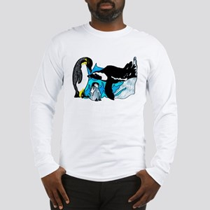 Three Penguins Long Sleeve T-Shirt