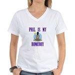 Homeboy Groundhog Day Women's V-Neck T-Shirt