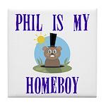 Homeboy Groundhog Day Tile Coaster
