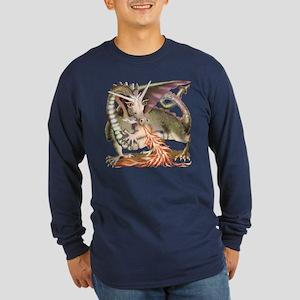 Fire Dragon Long Sleeve Dark T-Shirt