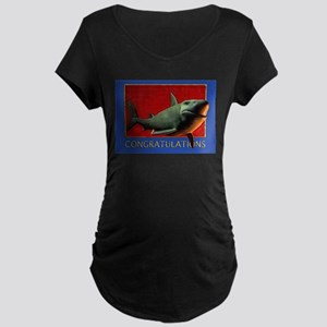 Shark Congrats Maternity Dark T-Shirt