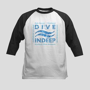 Dive Indeep Blue Logo Kids Baseball Jersey