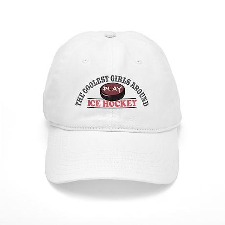 Coolest Girls Play Hockey Cap
