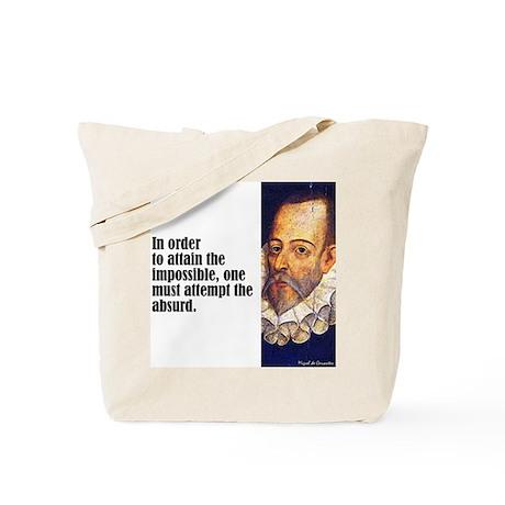 """Cervantes """"Absurd"""" Tote Bag"""