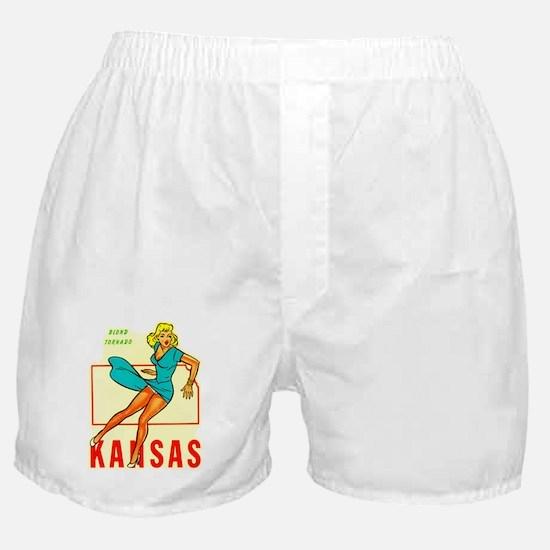 Vintage Kansas Pin-up Boxer Shorts