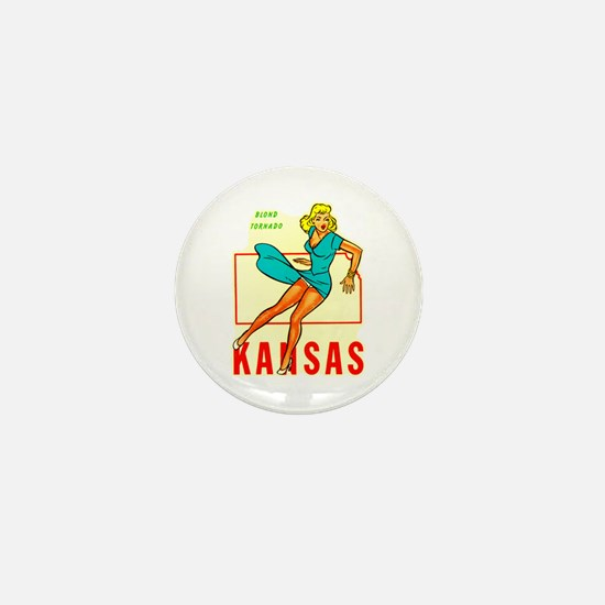 Vintage Kansas Pin-up Mini Button