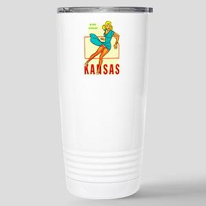 Vintage Kansas Pin-up Stainless Steel Travel Mug