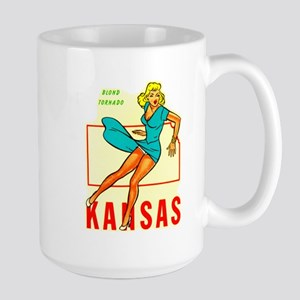 Vintage Kansas Pin-up Large Mug