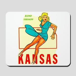 Vintage Kansas Pin-up Mousepad