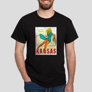 Vintage Kansas Pin-up Dark T-Shirt