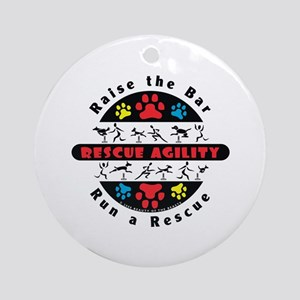Rescue Agility - Raise Ornament (Round)