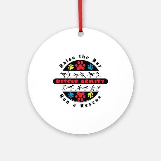 Rescue Agility - Raise Ornament (Round)