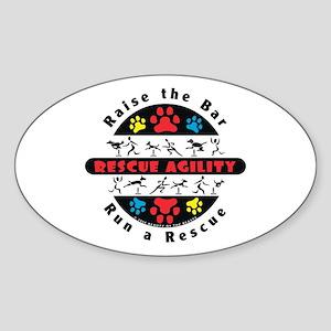 Rescue Agility - Raise Oval Sticker