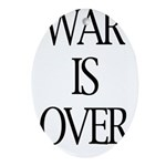 War Is Over Oval Ornament