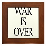 War Is Over Framed Tile