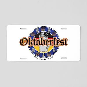 Oktoberfest Beer and Pretzels Aluminum License Pla
