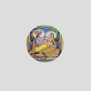 Krishna and Radha Mini Buttons