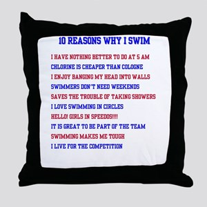 Ten reasons to swim - Male Throw Pillow