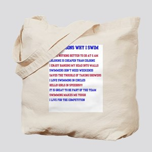 Ten reasons to swim - Male Tote Bag