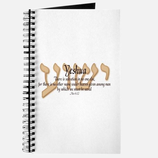 Yeshua Acts 4:12 Journal