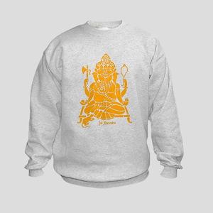 Jai Ganesh (Orange) Kids Sweatshirt