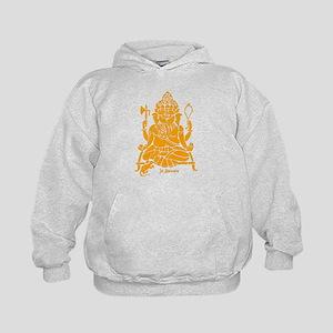 Jai Ganesh (Orange) Kids Hoodie