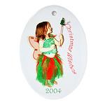 Christmas Fairy 2004 Oval Ornament