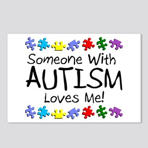 Someone With Autism Loves Me! Postcards (Package o