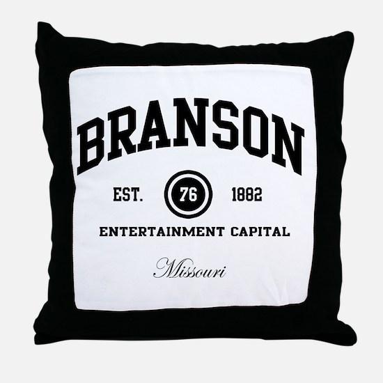 Branson, Missouri - Live Ente Throw Pillow