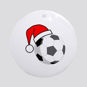 Soccer Greetings Ornament (Round)