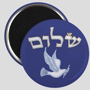 Shalom w/Dove /Bg (Hebrew) Magnet