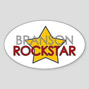 Branson Rockstar Oval Sticker