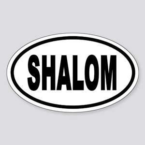 Shalom Euro Style Oval Sticker
