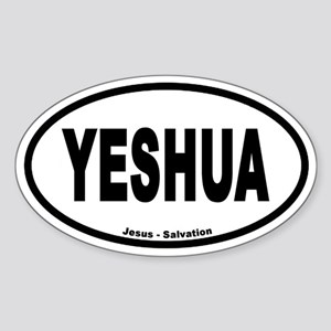 Yeshua Euro Style Oval Sticker
