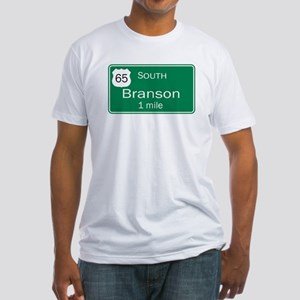 65 South to Branson, Missouri Fitted T-Shirt