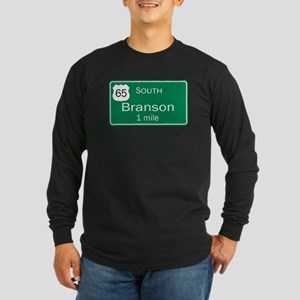 65 South to Branson, Missouri Long Sleeve Dark T-S