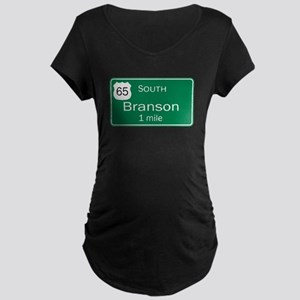 65 South to Branson, Missouri Maternity Dark T-Shi