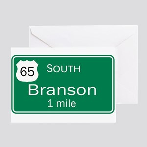 65 South to Branson, Missouri Greeting Card