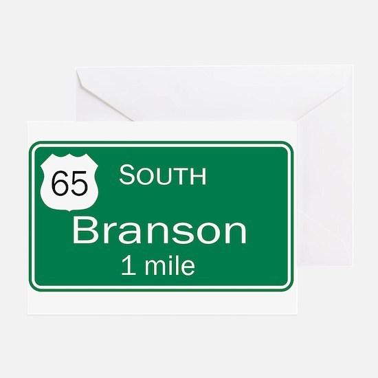 65 South to Branson, Missouri Greeting Card