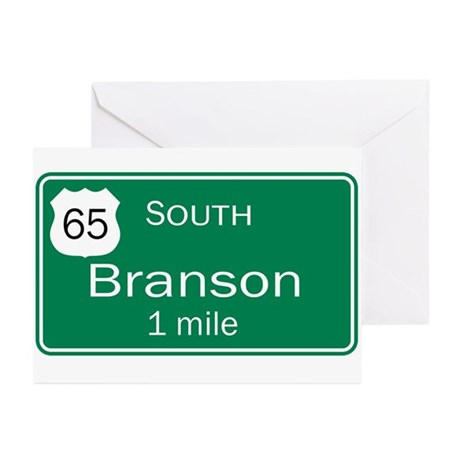 65 South to Branson, Missouri Greeting Cards (Pk o