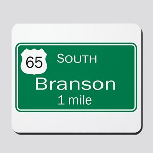 65 South to Branson, Missouri Mousepad