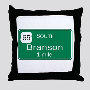 65 South to Branson, Missouri Throw Pillow