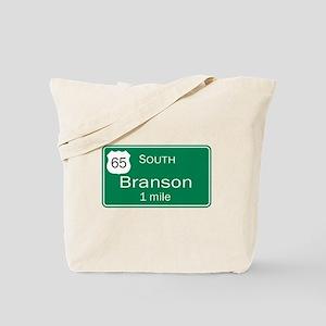 65 South to Branson, Missouri Tote Bag
