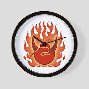 Hail Metal -flames Wall Clock