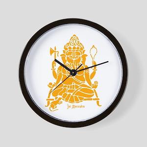 Jai Ganesh (Orange) Wall Clock