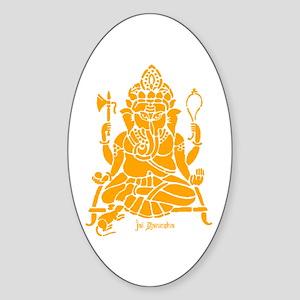 Jai Ganesh (Orange) Oval Sticker