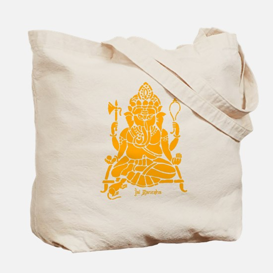 Jai Ganesh (Orange) Tote Bag