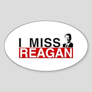 I Miss Reagan Oval Sticker