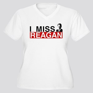 I Miss Reagan Women's Plus Size V-Neck T-Shirt